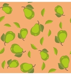 Seamless pattern with cartoon pears Fruits vector image vector image