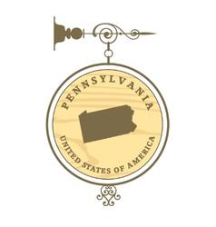Vintage label pennsylvania vector
