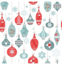 Vintage seamless pattern with Christmas decoration vector image