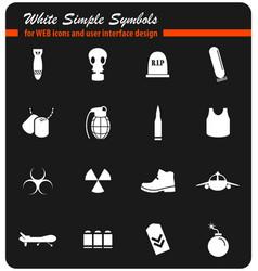 War symbols icon set vector