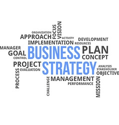 Word cloud business strategy vector