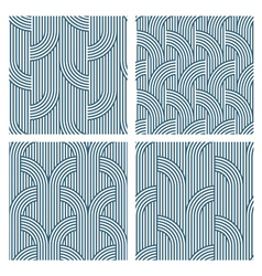 Four geometric striped seamless patterns vector