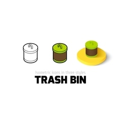 Trash bin icon in different style vector