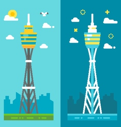 Flat design sydney tower vector