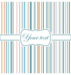 Striped colorful greeting card vector image