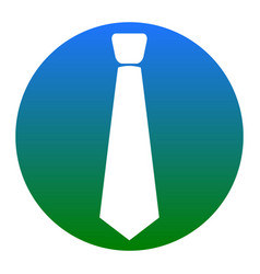 Tie sign   white icon in vector