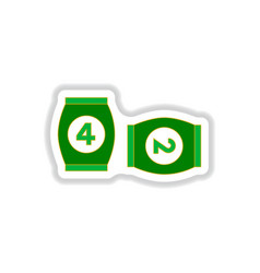 In paper sticker style bingo vector