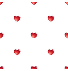 Seamless pattern with 3d hearts vector