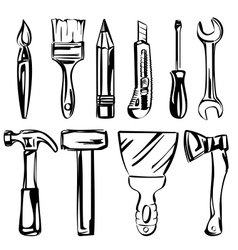 Tools set vector