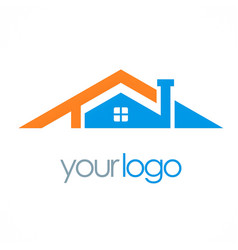 House roof company logo vector