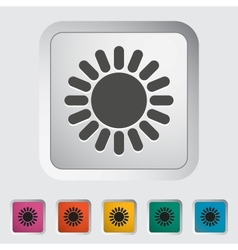 Sun single icon vector