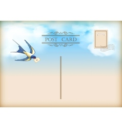 Sky Bird Letter Mail Postcard vector image