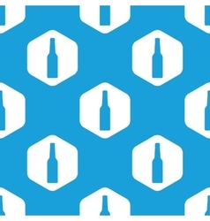 Bottle hexagon pattern vector image
