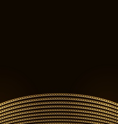 Beautiful Golden Chains Isolated on Black vector image