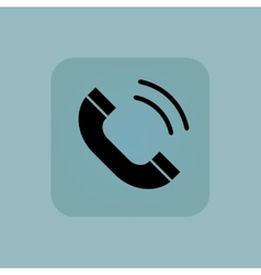 Pale blue calling icon vector