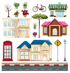 Buildings and things we see on the street vector