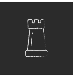 Chess icon drawn in chalk vector