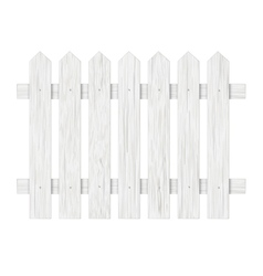 White wooden fence vector