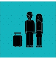 People and travel design vector