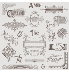Set various retro design elements vector