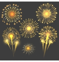 Celebratory gold firework salute burst vector