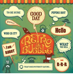Retro set bubble vector