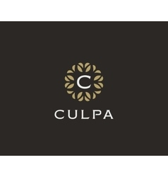 Premium monogram letter C initials logo Universal vector image