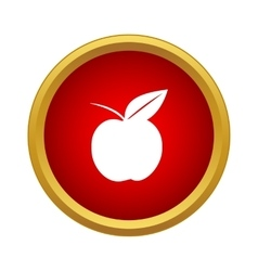 Ripe apple icon simple style vector