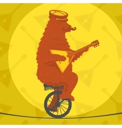 Bear riding a motorcycle vector