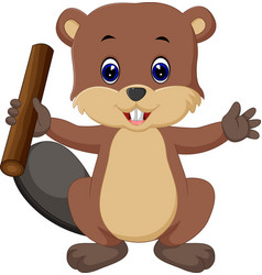 Beaver cartoon vector