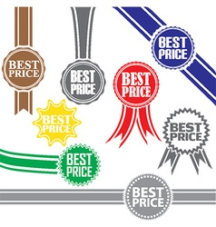 Best price signs set best price sticker set vector