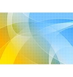Bright orange blue wavy background vector