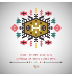 Colorful decorative element on ethnic style vector image
