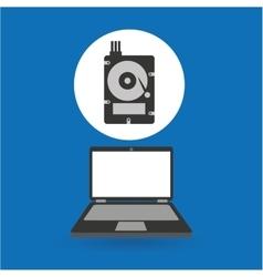 Computer analysis data hard drive vector