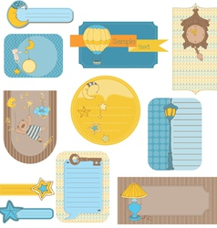design elements for baby scrapbook - sweet dreams vector image
