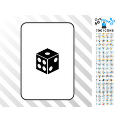 dice card with bonus vector image vector image