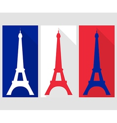 Eiffel tower flat icon vector