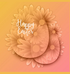 Happy easter background with decorative eggs vector