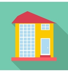 High house icon flat style vector