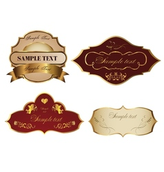 Label vector image vector image