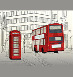 london street vector image