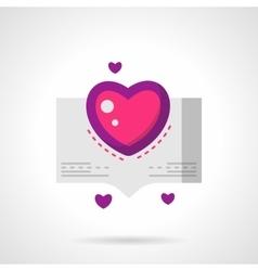 Love confession bright flat icon vector