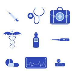 medical icons vector image vector image