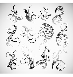 Ornament Flowers Vintage Design Elements vector image vector image