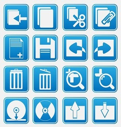 pc icon basic style vector image vector image