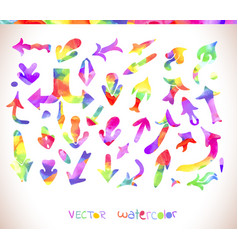 rainbow colors arrow collection vector image vector image