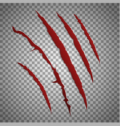 Slash scratch set on transparent background vector image