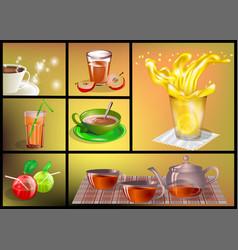 Soft drinks set vector