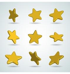 stars set vector image