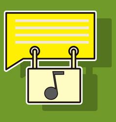 Sticker voice mail icon speaker symbol audio vector